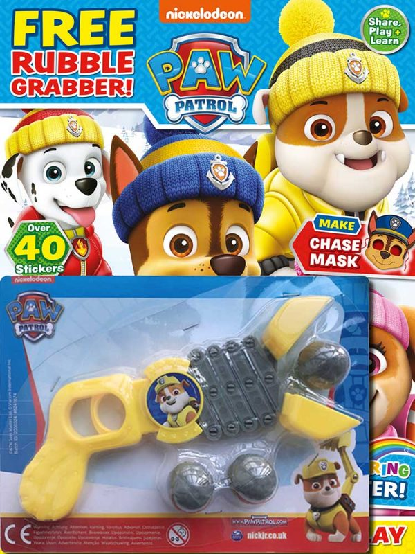 PAW Patrol Magazine Issue 80 Rubble Toy