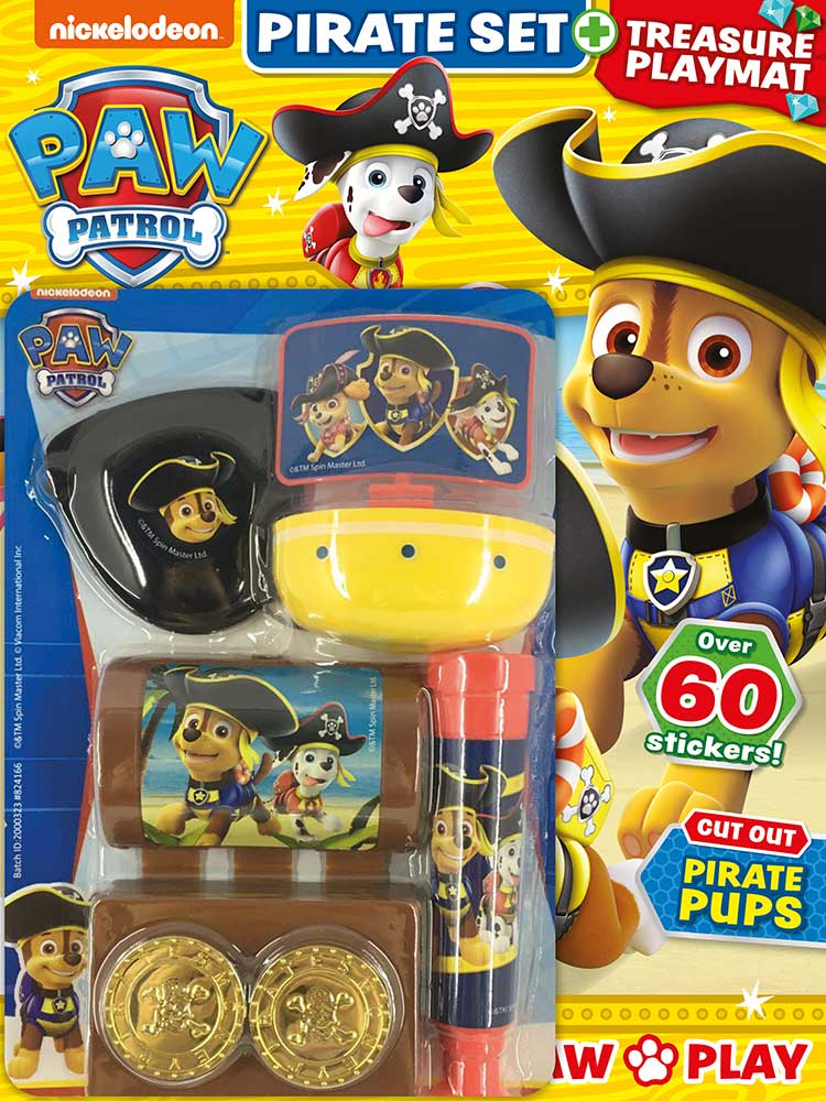 PAW Patrol Magazine Issue 82 Pirate Set