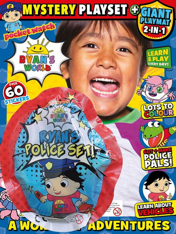Ryan's World Magazine Issue 21 Police Set Gift